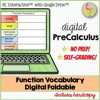 Function Vocabulary Digital Foldable - Google Edition