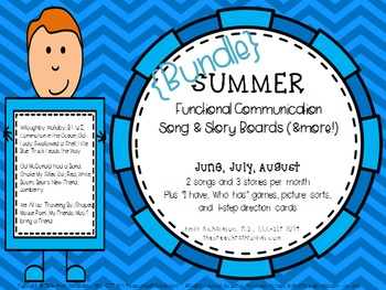 Functional Communication Song & Story Boards - SUMMER Bundle