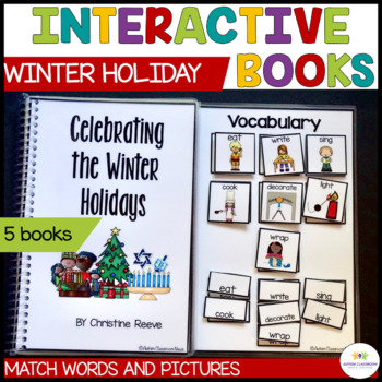Functional Interactive Adapted Books*Winter Holidays*Autis