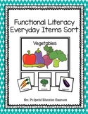 Functional Literacy Everyday Items Sort