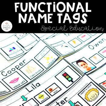 Functional Name Tags for Special Education