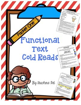 Cold Reads: Functional Text Packet 1