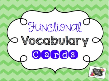 Functional Vocabulary Cards