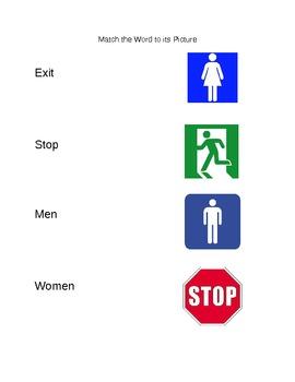 Functional Words (Set 2- men, women, stop, exit)