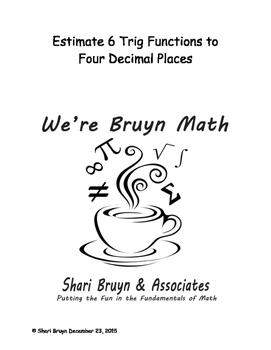 Functions - Estimate to Four Decimal Places