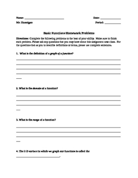 Functions Homework Assignment