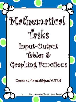 Functions:  Mathematical Tasks Input Output Tables and Gra