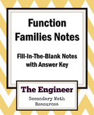 Functions Notes (Function Families) - Algebra 2