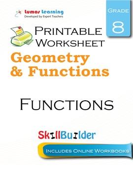 Functions Printable Worksheet, Grade 8