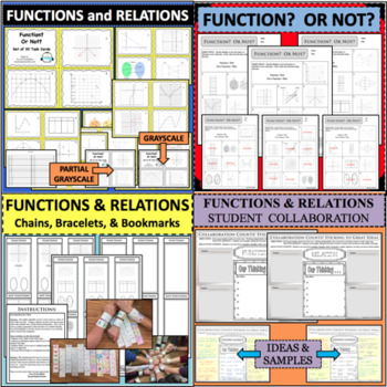 Functions & Relations Task Card Set Vertical Line Test x-c