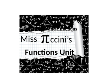 Functions Unit Note Packet