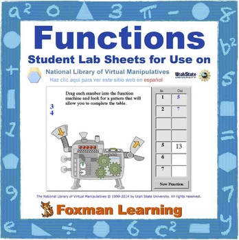 Functions -- Virtual Manipulatives Lab for Middle School M