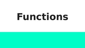 Functions Vocabulary Presentation