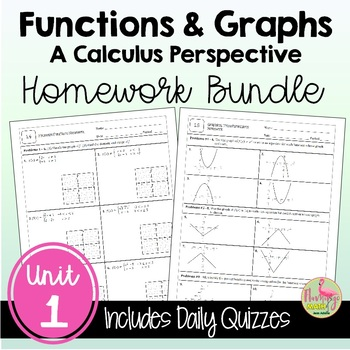 PreCalculus: Functions and Graphs Homework Bundle