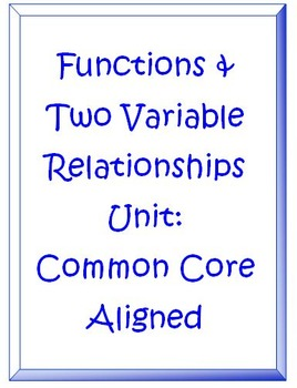 Functions and Two Variaable Relationship CHAPTER Common Co