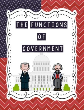 Functions of Government Vocabulary Sort {SS Interactive No