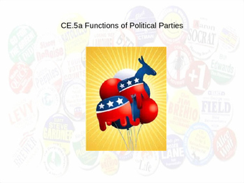 Functions of Political Parties power point (CE.5a)