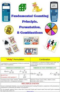 Fundamental Counting Principle, Permutation, & Combination