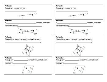 Fundamental Geometry Postulates