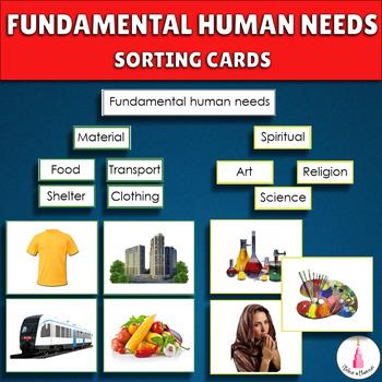 Fundamental Human Needs Montessori Cards