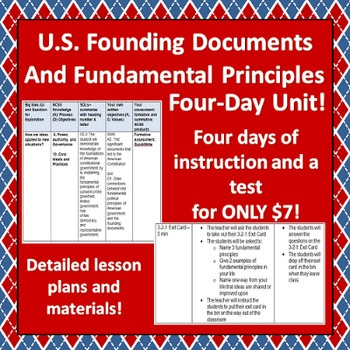 Principles and Founding Documents of U.S. Government Four-