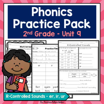 Phonics Printable Pack Unit 9 Second Grade R-Controlled So