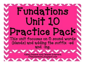 Practice Pack-5 Sound Blends/Suffixes -ed and -ing