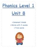 Phonics level 1 unit 8-Blends, trick words