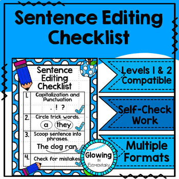 Fundations Sentence Editing Checklist