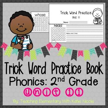 Trick/Sight Word Practice : Level 2 Unit 11