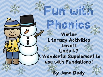 Fun With Phonics Winter Literacy Centers Level 1