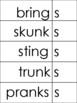 Phonics level 1 Resource: suffix cards