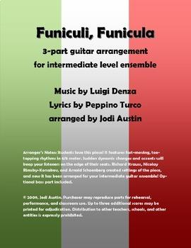 Funiculi, Funicula (Sheet Music for Intermediate Level Gui
