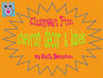 Funky Chevron Classroom Labels and Decor