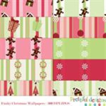 Funky Christmas Wallpaper Paper Pack