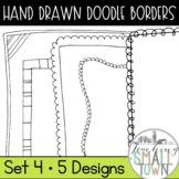 Funky Doodle Border Frames- Clip Art
