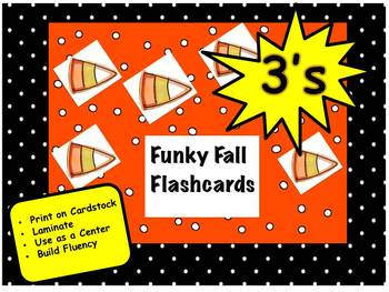 Funky Fall Flashcards 3's
