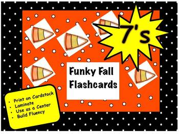 Funky Fall Flashcards 7's