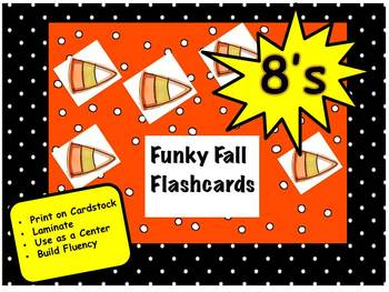 Funky Fall Flashcards 8's
