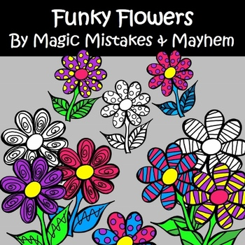 Funky Flower Clip Art