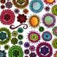 Funky Flowers One Clip Art