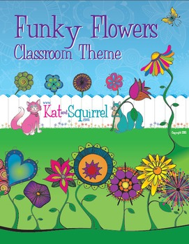 Funky Flowers Classroom Theme Art