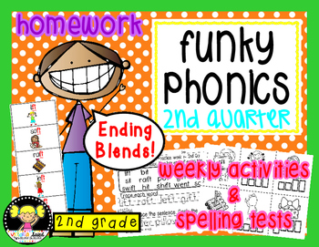 Funky Phonics: 2nd Grade Homework {2nd quarter}