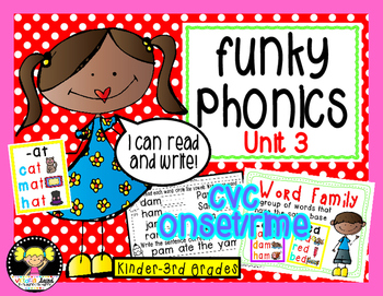 Funky Phonics: Unit 3 {Short Vowels}