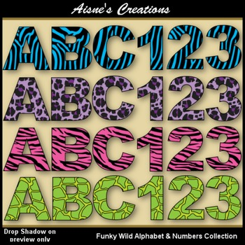 Funky Wild Alphabet & Numbers Collection