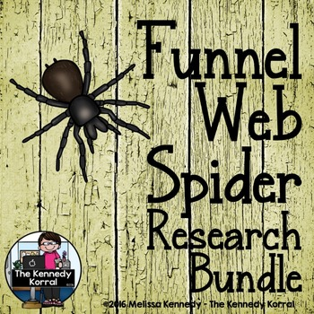 Funnel Web Spider Research Bundle  {Anchor Chart, Report,