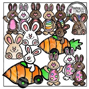Easter Clipart Bunny Bundle