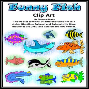 Funny Fish Clip Art
