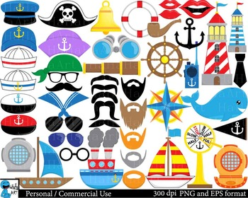 Funny Nautical Props - Digital ClipArt Personal Commercial