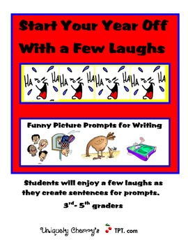 Funny Picture Prompts for Writing 3-5th grades
